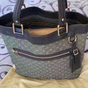 Louis Vuitton Khaki Mini Lin Monogram Lucille GM